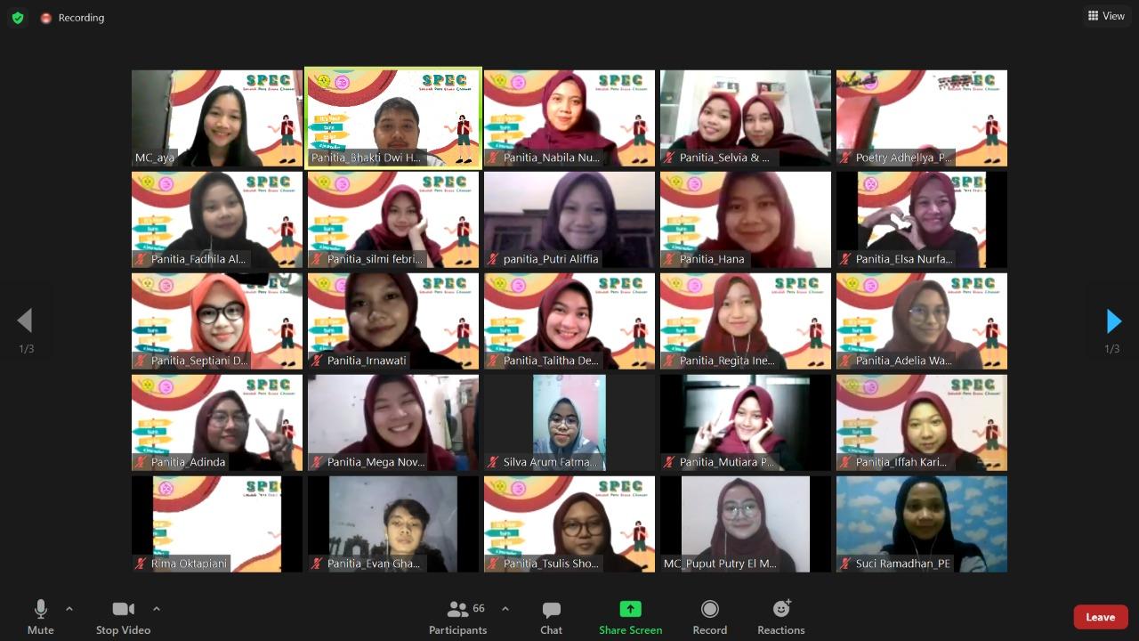 Keseruan Sekolah Pers EconoChannel 2021 secara Daring