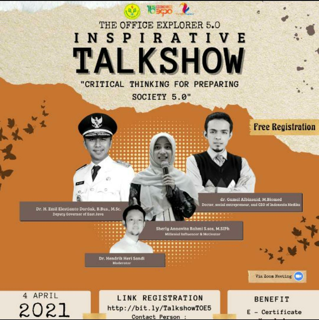 INSPIRATIVE TALKSHOW THE OFFICE EXPLORER 5.0: CRITICAL THINKING FOR PREPARING SOCIETY 5.0
